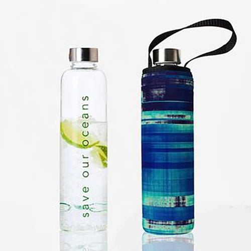 BBBYO Glass is Greener 750ml Bottle + Carry Cover - Glassy