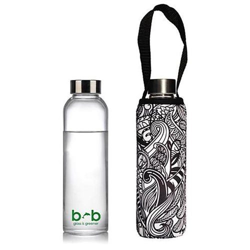 BBBYO Glass is Greener 570ml Bottle + Cover - Koru