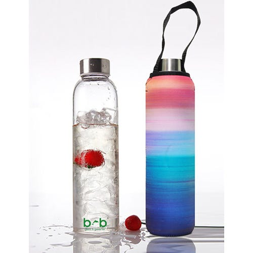 BBBYO Glass is Greener 750ml Bottle + Carry Cover - Peace