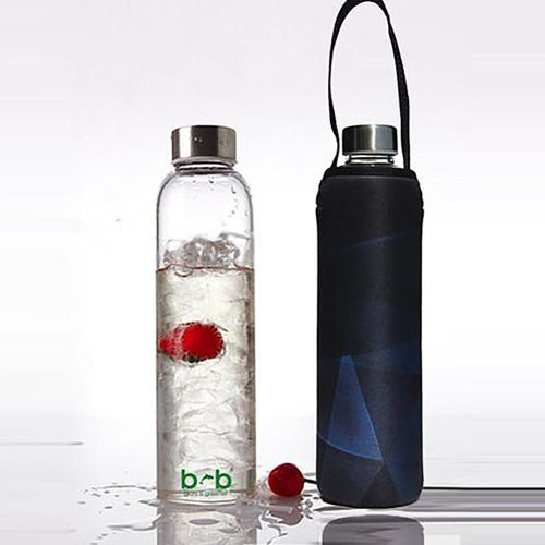 BBBYO Glass is Greener 750ml Bottle + Carry Cover - Prism