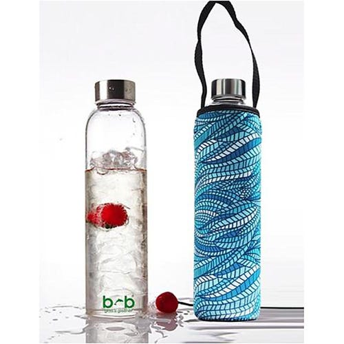 BBBYO Glass is Greener 750ml Bottle + Carry Cover - Sealeaf
