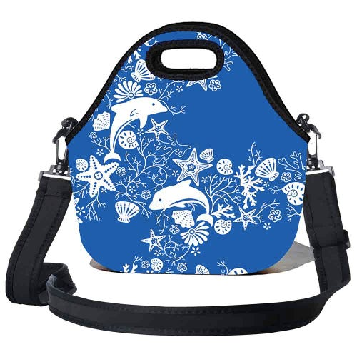 BBBYO Kids Lunch Bag with Strap - Dolphin