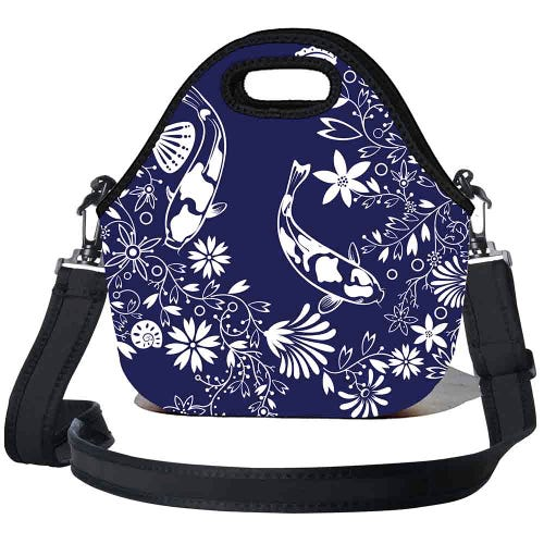 BBBYO Kids Lunch Bag with Strap - Koi