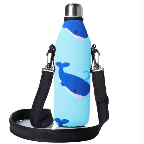 BBBYO Bottle Carry Cover 500ml - Blue Whale
