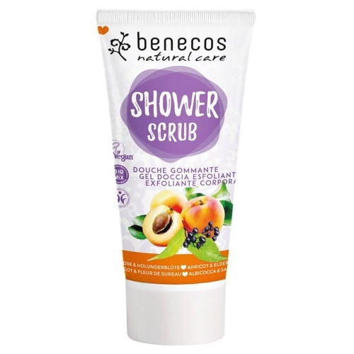 Benecos Shower Scrub - Apricot & Elderflower (200ml)