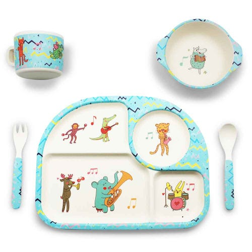 BBBYO Bambu Mealtime Set - Animal Party