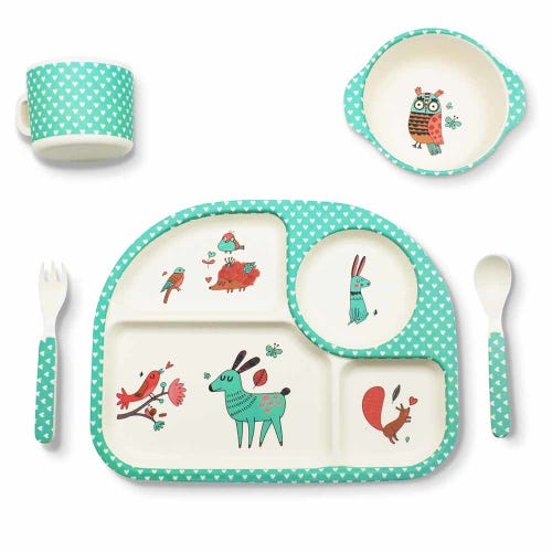 BBBYO Bambu Mealtime Set - Forest Friends