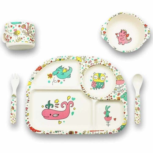 BBBYO Bambu Mealtime Set - Sleepy Owl