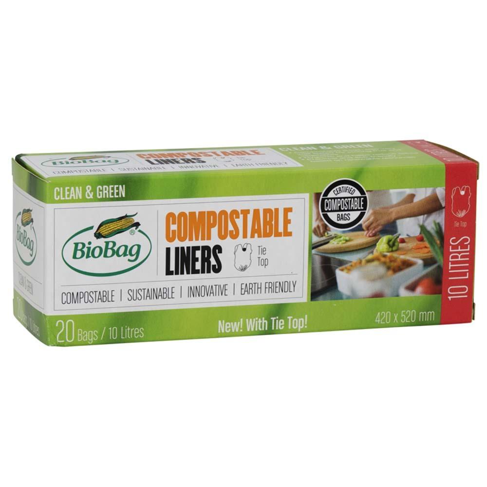 BioBag Compostable Bin Liners 10 Litre (20 Bags)