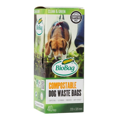 BioBag Compostable Dog Waste Bags (40 Pack)