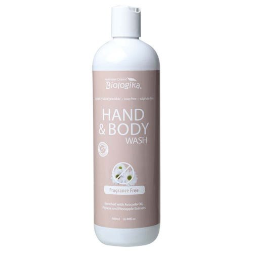 Biologika Hand & Body Wash - Fragrance Free (500ml)