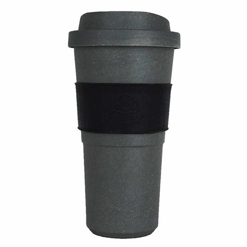 EcoSouLife Bamboo Bio Sip Cup - Charcoal (20oz)