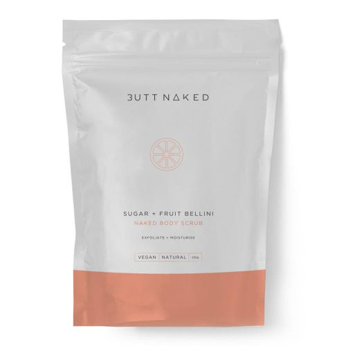 Butt Naked Sugar + Fruit Bellini Body Scrub (250g)