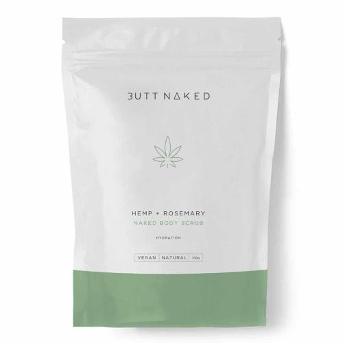 Butt Naked Hemp + Rosemary Body Scrub (250g)