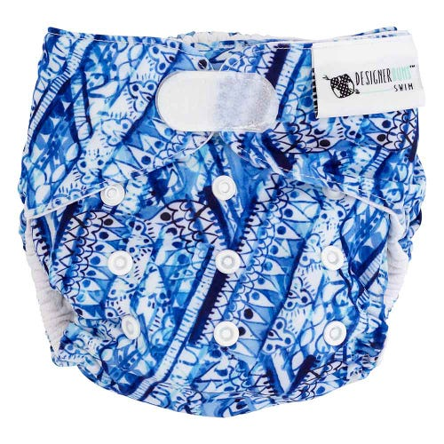 Designer Bums Reusable Swim Nappy Velcro - Bondi Beach