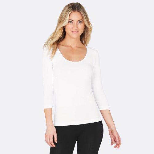 Boody Women's 3/4 Sleeve Top - White