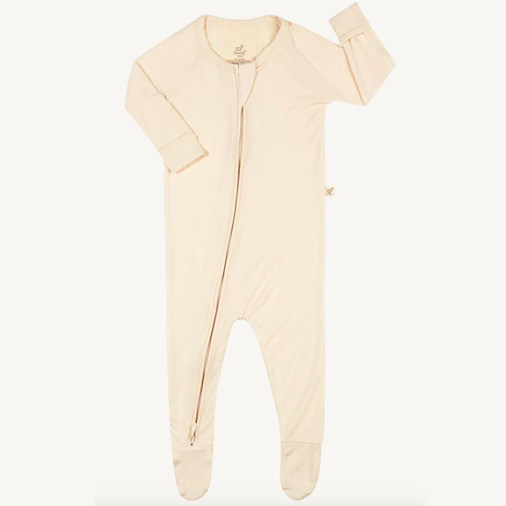 Boody Baby Long Sleeve Onesie - Chalk