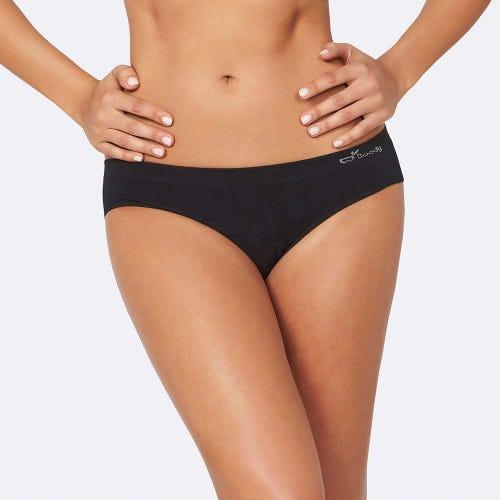 Boody Women's Hipster Bikini Underwear - Black
