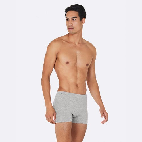 Boody Men's Original Boxers - Light Marl Grey