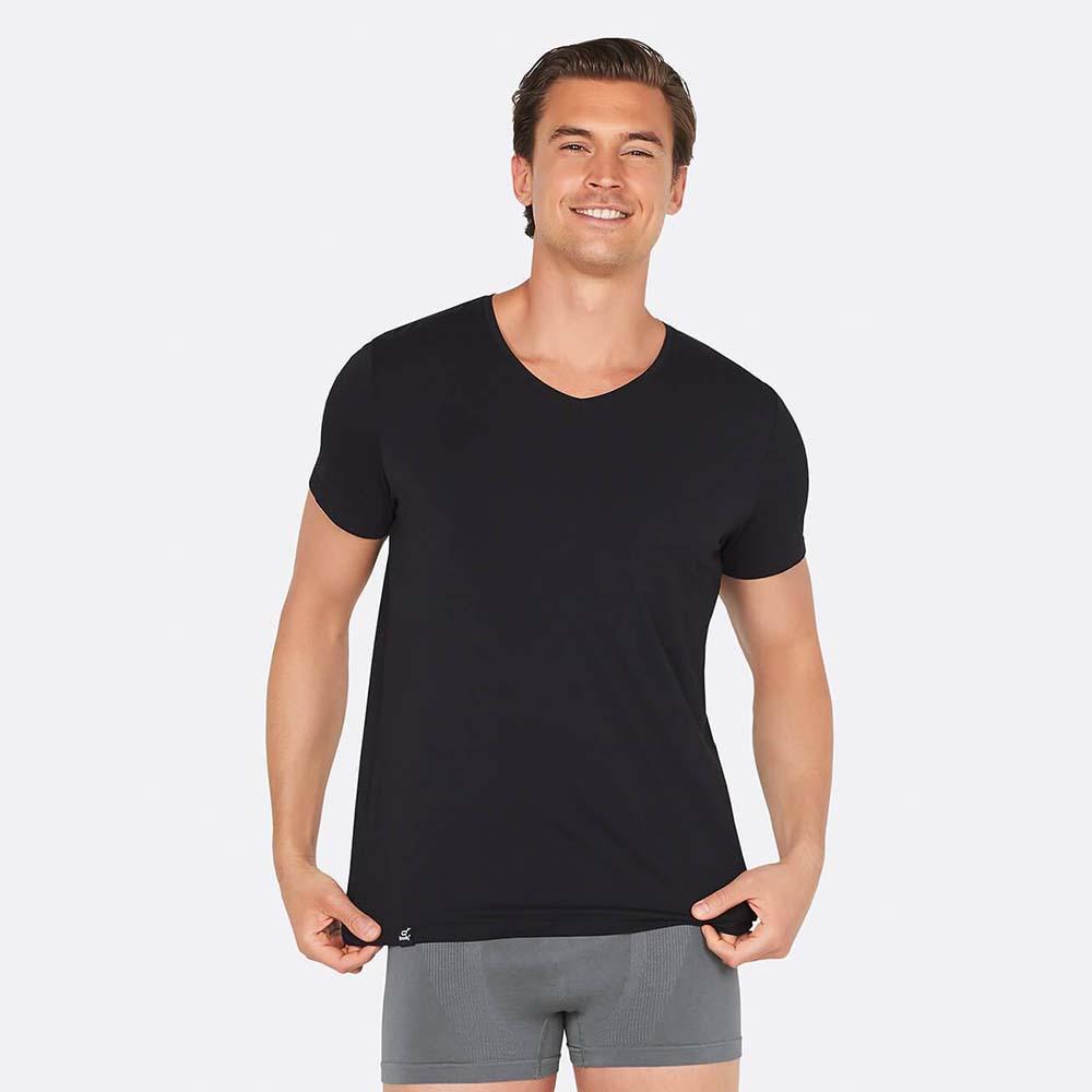 Boody Men's V-Neck T-Shirt - Black