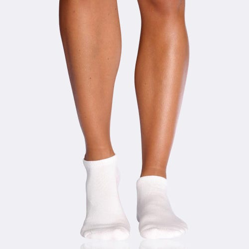 Boody Women's Cushioned Ankle Socks - White (3-9)