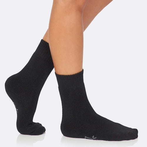 Boody Women's Crew Boot Socks - Black (3-9)