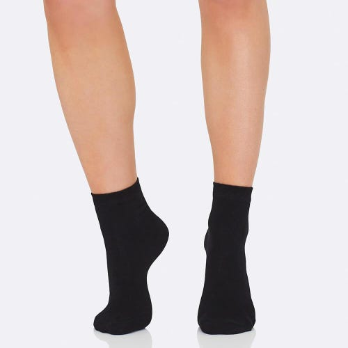 Boody Women's Everyday Ankle Socks - Black (3-9)