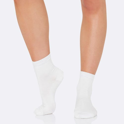 Boody Women's Everyday Ankle Socks - White (3-9)