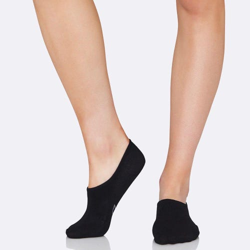 Boody Women's Hidden Socks - Black (3-9)