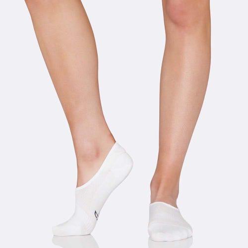 Boody Women's Hidden Socks - White (3-9)