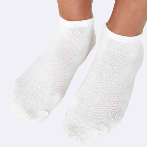 Boody Women's Low Cut Socks - White (3-9)