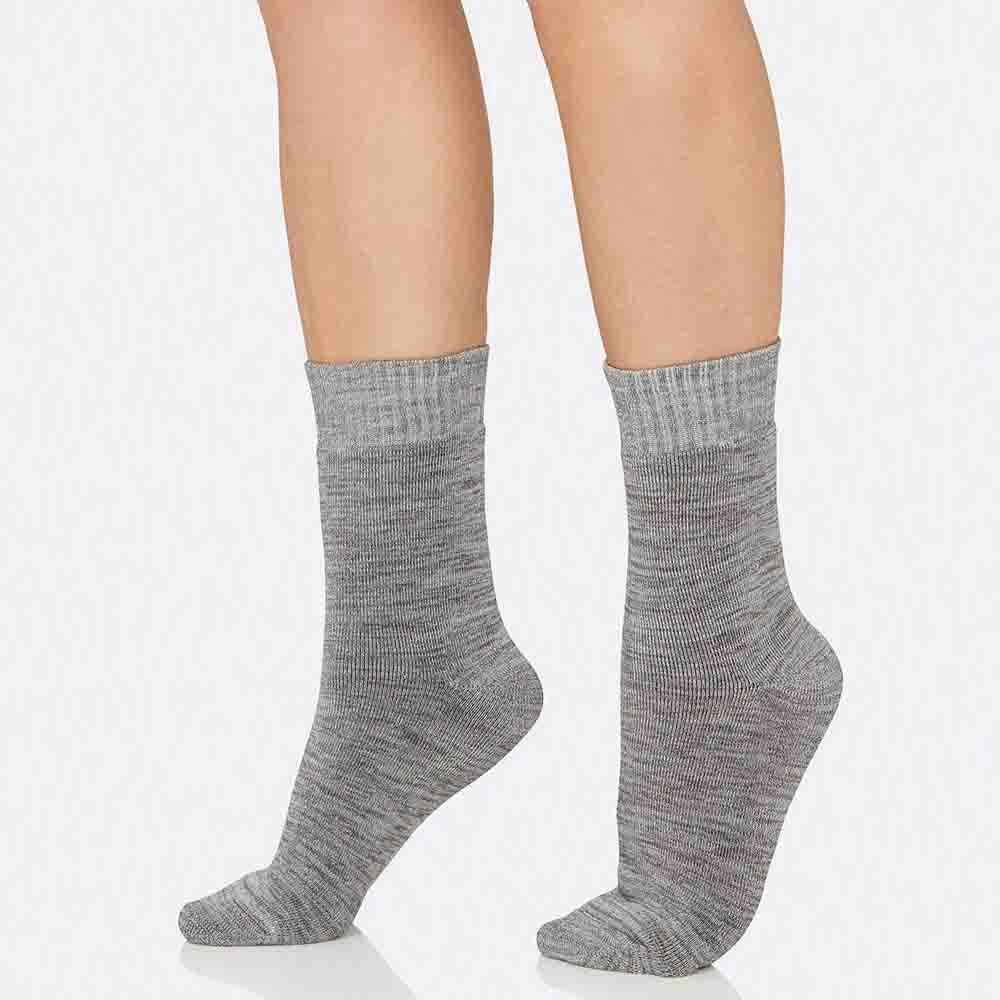 Boody Women's Crew Boot Socks - Grey Space Dye
