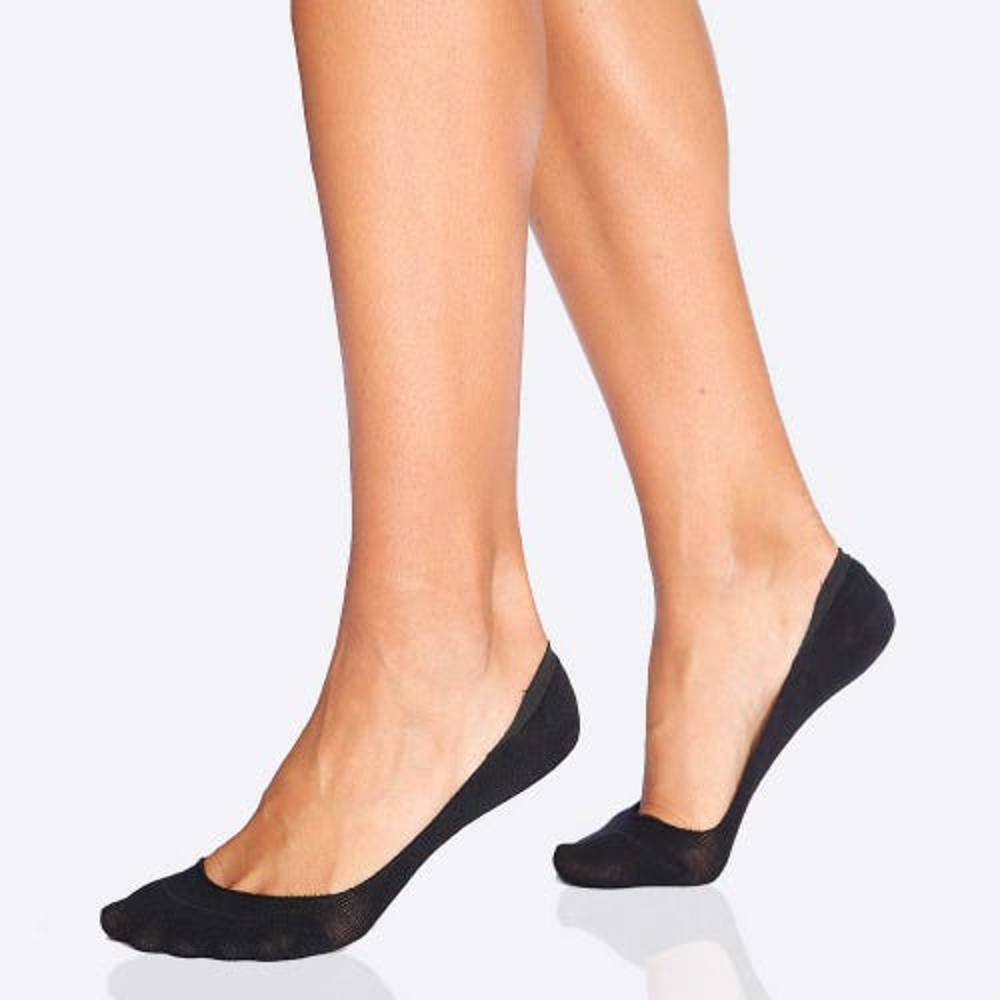 Boody Women's Invisible Socks - Black (3-9)
