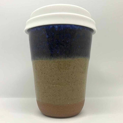 Bryteka Pottery Coffee Cup - Ocean-Earth (12oz)