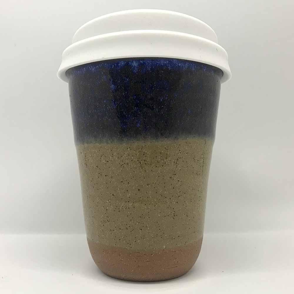 Bryteka Pottery Coffee Cup - Ocean-Earth (12oz)