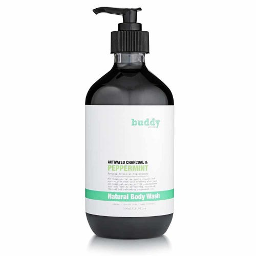 Buddy Scrub Body Wash Charcoal (500ml)