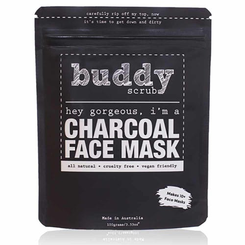 Buddy Scrub Face Mask - Activated Charcoal (100g)