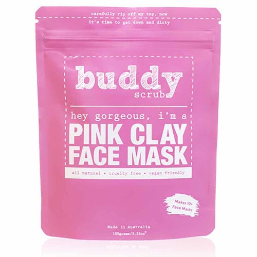 Buddy Scrub Face Mask - Pink Clay (100g)
