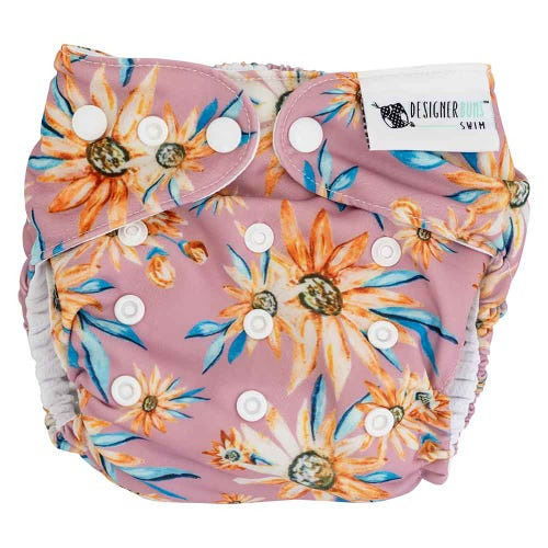 Designer Bums Reusable Swim Nappy Snaps - Byron Bay