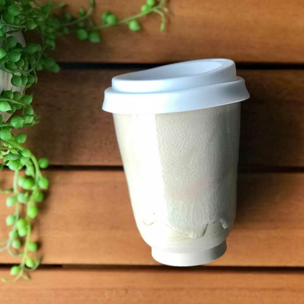 Bryteka Pottery Coffee Cup - Sparkling Sand (12oz)