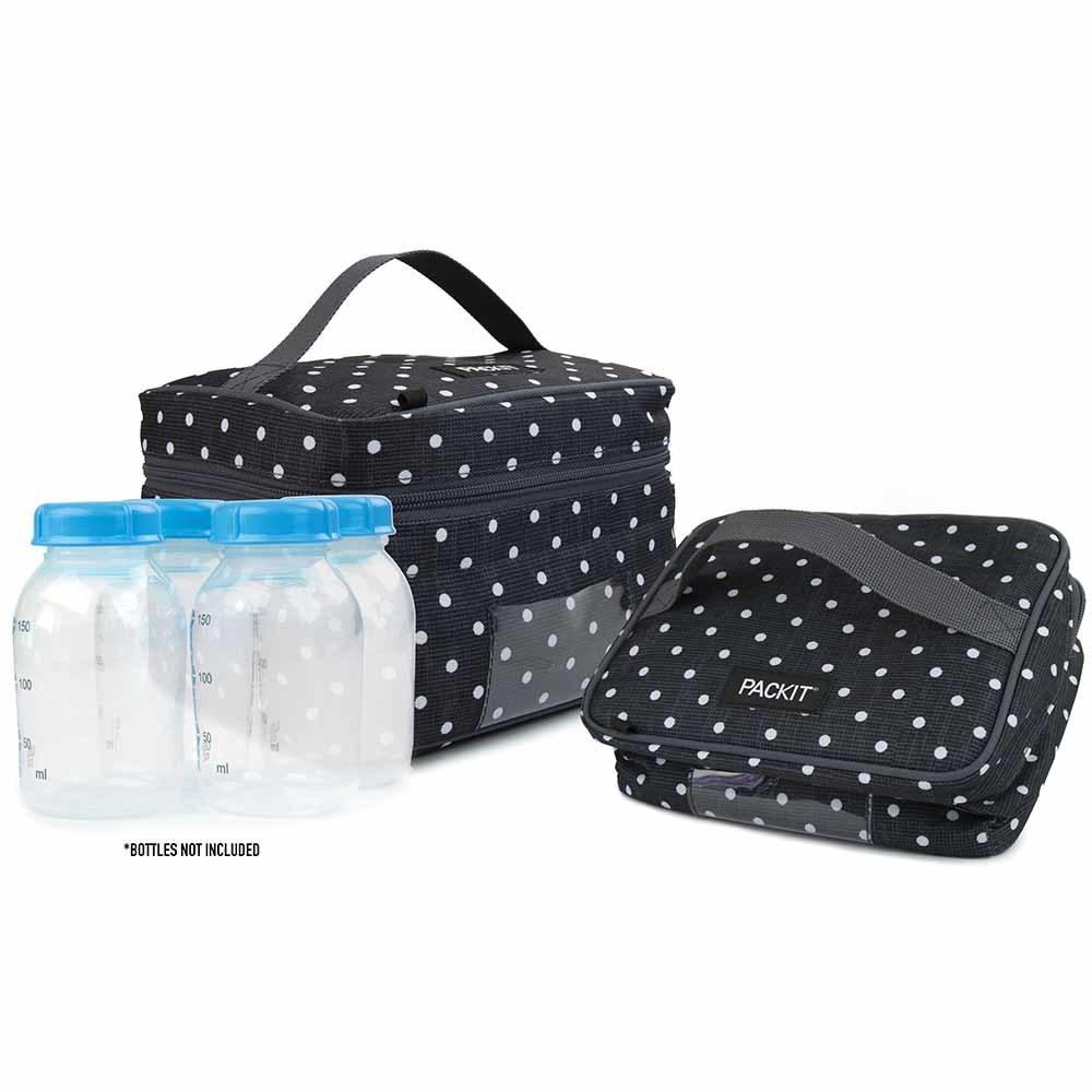 PackIt Freezable Breastmilk & Formula Cooler - Polka Dot