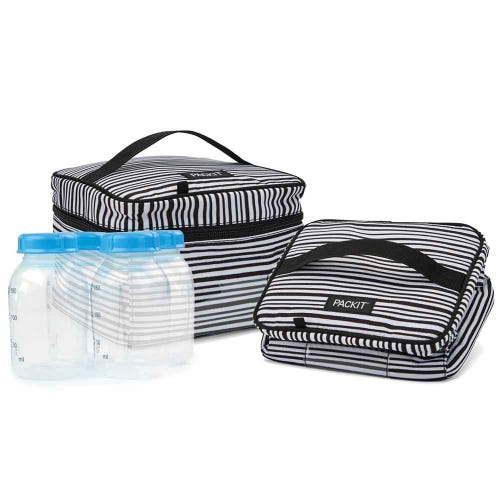 PackIt Freezable Breastmilk & Formula Cooler - Wobbly Stripes