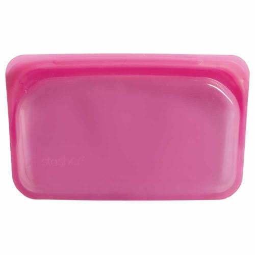 Stasher Reusable Snack Size Bag - Raspberry
