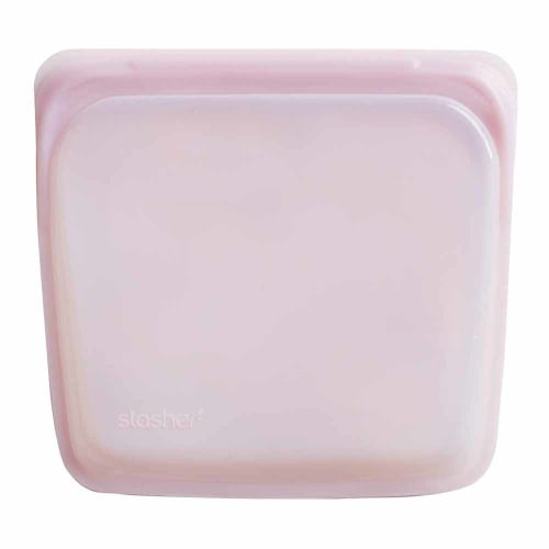 Stasher Reusable Sandwich Bag - Rose Quartz