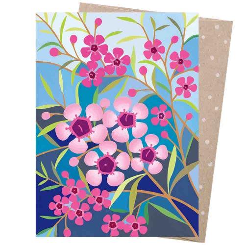 Earth Greetings Blank Card - Geraldton Wax