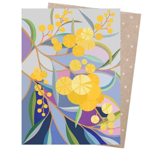 Earth Greetings Blank Card - Wattle Walk