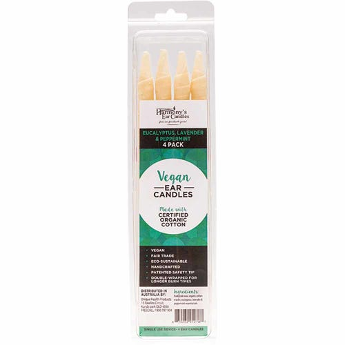 Harmony's Ear Candles - Eucalyptus, Lavender & Peppermint 4 Pack