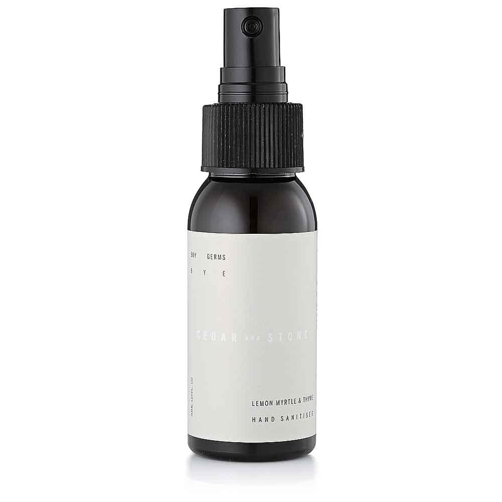 Cedar + Stone Lemon Myrtle & Thyme Hand Sanitiser (50ml)