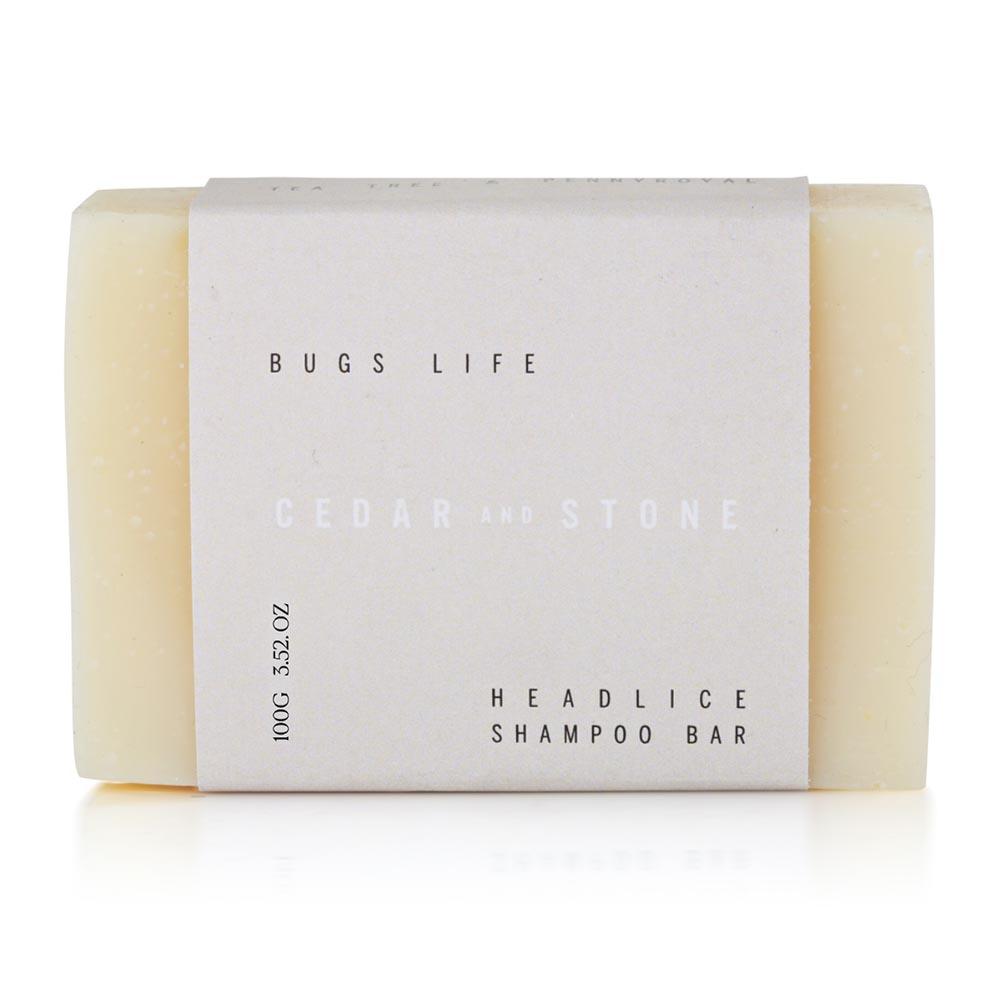 Cedar + Stone Headlice Shampoo Bar (100g)