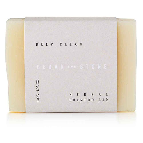 Cedar + Stone Shampoo Bar - All Hair Types  (140g)
